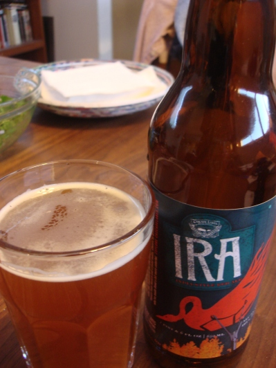 Beer pairing: an India-style Red Ale from Cascade Lakes Brewing Company.