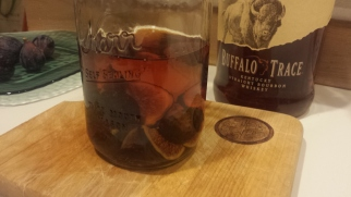 Bourbon on the Figs while the Buffalo Watches